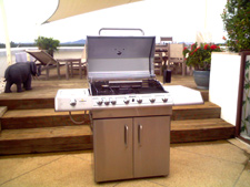 6 burners BBQ grill with rotisseries