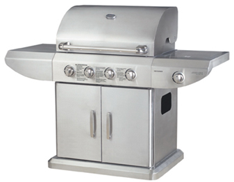 Fire Magic SS4 - Stainless Steel gas barbecues with side burner