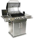 Deluxe elite 4 - 4 burners gas BBQ with side burner